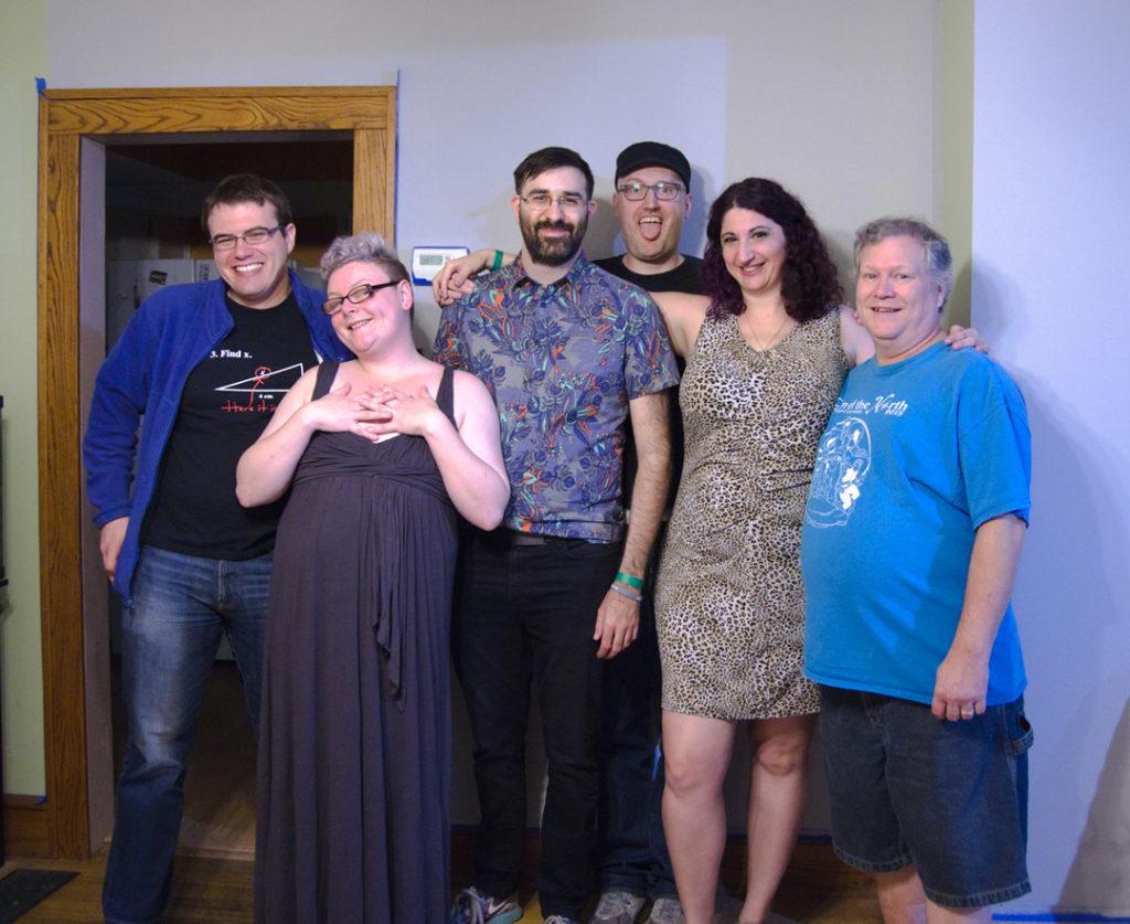 Six people of various genders