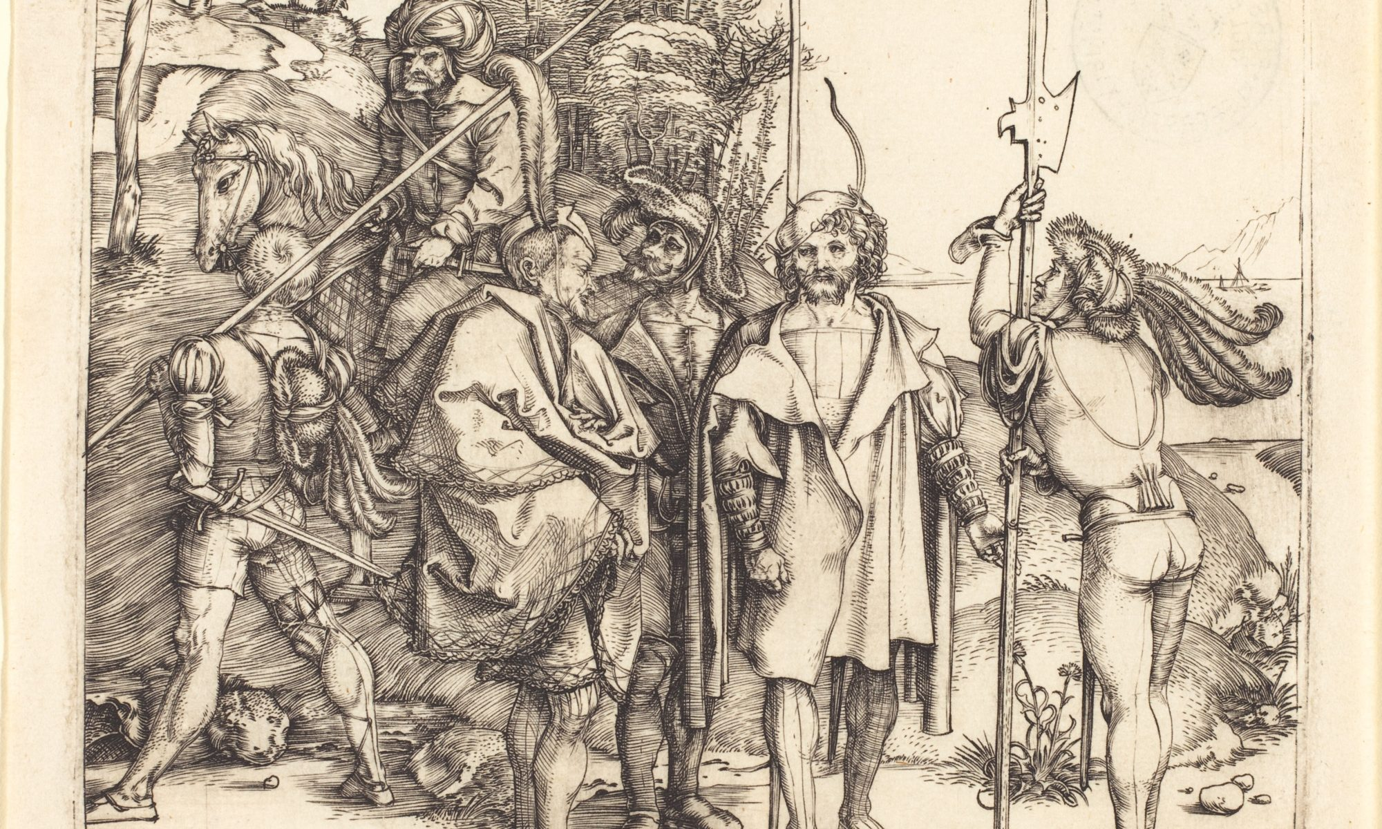 """Five Soliders and a Turk on Horseback"" by Albrecht Dürer"
