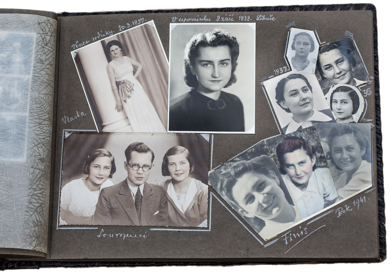 Image of family photo album circa 1941