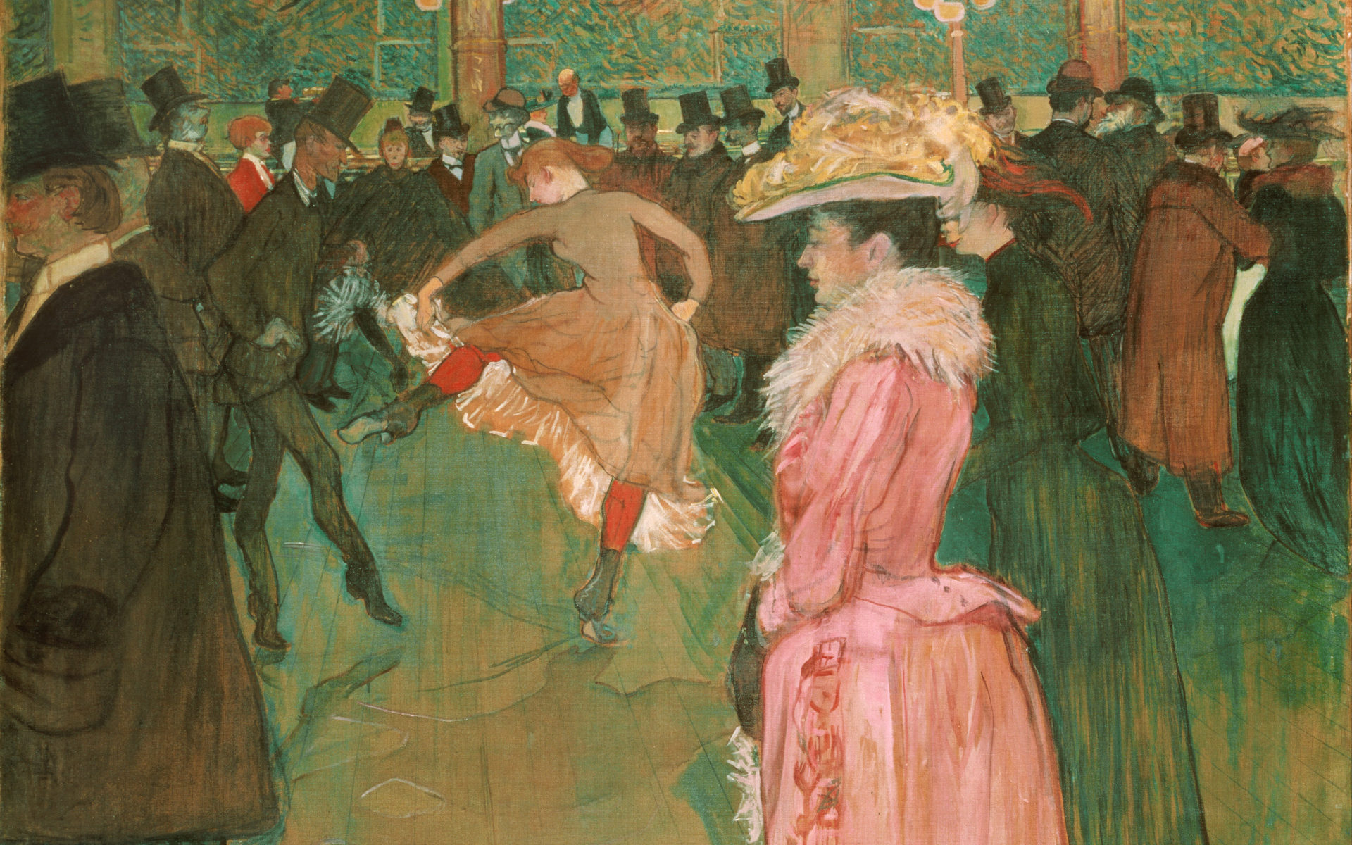 At the Moulin Rouge: The Dance, a painting by Toulouse-Lautrec