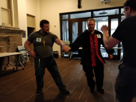 several people dancing