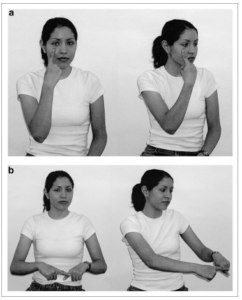 photo illustration of ISN gestures for see and pay